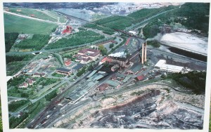 Luftaufnahme der Grube